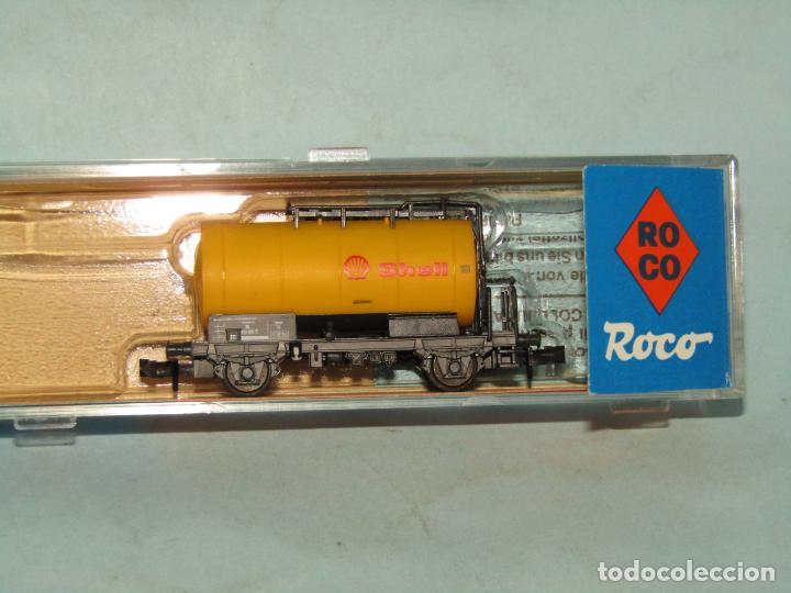 Trenes Escala: Vagón Cisterna SHELL de la DB en Escala *N* de ROCO - Foto 8 - 257485605