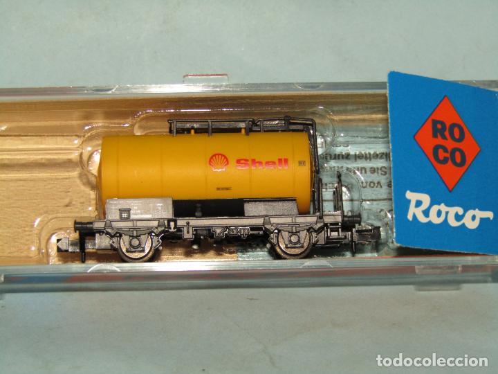 Trenes Escala: Vagón Cisterna SHELL de la DB en Escala *N* de ROCO - Foto 2 - 257486635