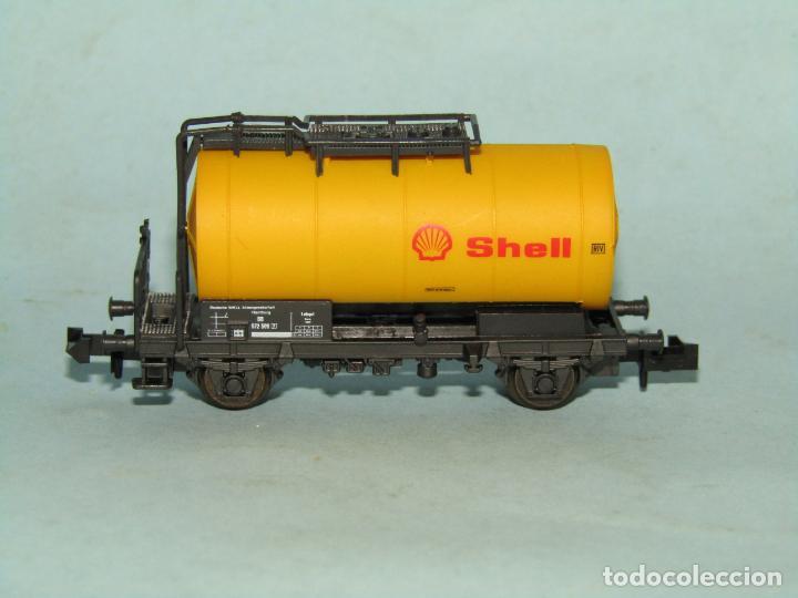 Trenes Escala: Vagón Cisterna SHELL de la DB en Escala *N* de ROCO - Foto 3 - 257486635