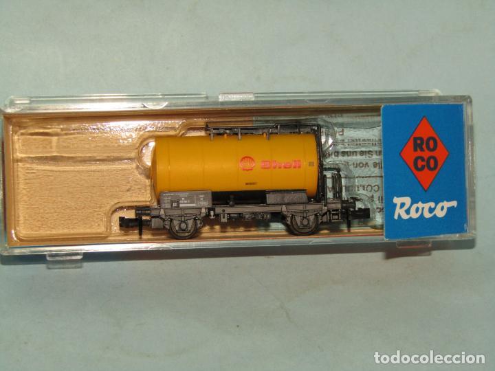 Trenes Escala: Vagón Cisterna SHELL de la DB en Escala *N* de ROCO - Foto 4 - 257486635