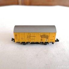 Trenes Escala: ROCO N VAGÓN CERRADO CERVECERO DINKEL ACKER DB ALEMÁN PERFECTO ESTADO. Lote 258310320
