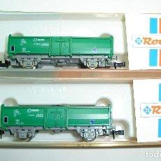 Trenes Escala: PAREJA DE VAGONES RENFE CON CARBON ROCO ESCALA N. Lote 261794255