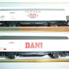 Trenes Escala: PAREJA DE VAGONES RENFE DANI Y TORRES ROCO ESCALA N. Lote 261794355