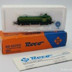 Trenes Escala: LOCOMOTORA DIESEL ROCO BB 63000.. Lote 262518595