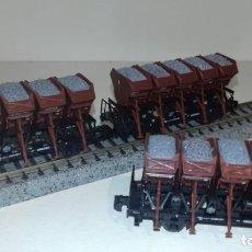 Trenes Escala: ROCO N 3 VOLQUETES CARGA GRAVA -- L49-252 (CON COMPRA DE 5 LOTES O MAS, ENVÍO GRATIS). Lote 263543535