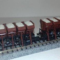 Trenes Escala: ROCO N 2 VOLQUETES CARGA ARENA -- L49-255 (CON COMPRA DE 5 LOTES O MAS, ENVÍO GRATIS). Lote 263543900