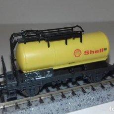 Trenes Escala: ROCO N CISTERNA 2 EJES SHELL -- L49-257 (CON COMPRA DE 5 LOTES O MAS, ENVÍO GRATIS). Lote 263544180