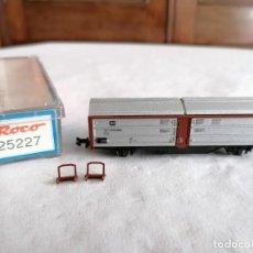 Trenes Escala: ROCO N 25227 VAGÓN TECHO CORREDIZO DB ALEMÁN NUEVO OVP. Lote 264287620