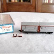 Trenes Escala: ROCO N 25227 VAGÓN TECHO CORREDIZO DB ALEMÁN NUEVO OVP. Lote 264287632