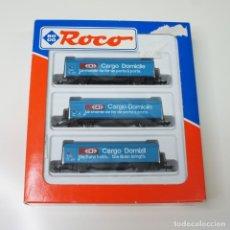 Trenes Escala: LOTE DE 3 VAGONES ROCO CARGO DOMICILE CON CAJA ESCALA N, REF 24009 .. Lote 267017039