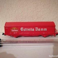 Trains Échelle: VAGON ESTRELLA DAMM RENFE - TREN - ROCO - ESCALA N - CERVEZA. Lote 267140664