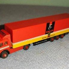 Trenes Escala: CAMION CON REMOLQUE DE PASTAS GALLO MARCA ROCO ESCALA N. Lote 270895983