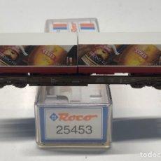 Trenes Escala: ROCO N 25453- PLATAFORMA BOGIES CON 2 CONTENEDORES CERES DSB. Lote 271414008