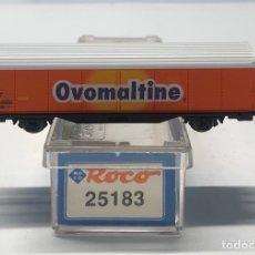 Trenes Escala: ROCO N 25183- VAGÓN CERRADO OVOMALTINE SBB. Lote 271414863