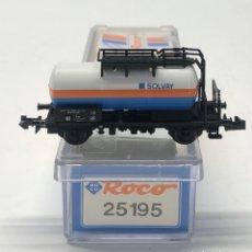 Trenes Escala: ROCO N 25195- VAGÓN CISTERNA PEQUEÑA SOLVAY ÖBB. Lote 271416693