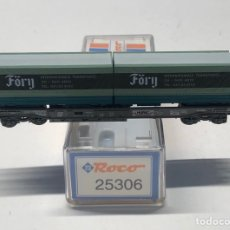 Trenes Escala: ROCO N 25306- VAGÓN PLATAFORMA BOGIES CON 2 CONTENEDORES FÖRY SBB HUPAC. Lote 271417683