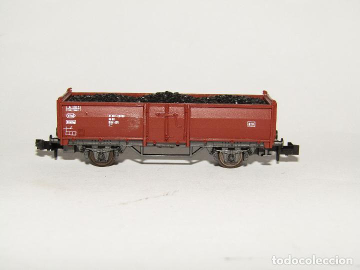 Trenes Escala: Vagón Borde Alto con Carbón en Escala *N* de ROCO - Foto 2 - 273447243