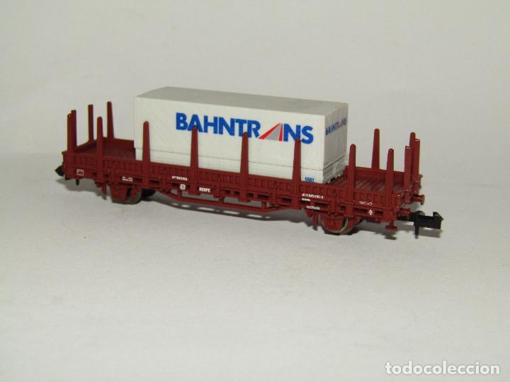 Trenes Escala: Vagón Teleros con Contenedor BAHNTRANS en Escala *N* de ROCO - Foto 2 - 273467808