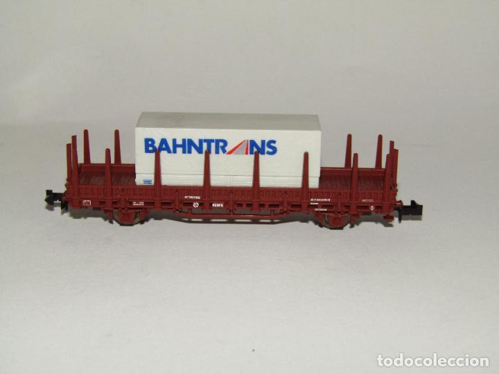 Trenes Escala: Vagón Teleros con Contenedor BAHNTRANS en Escala *N* de ROCO - Foto 3 - 273467808