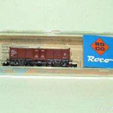 Trenes Escala: VAGÓN BORDE ALTO DE LA SNCF EN ESCALA *N* DE ROCO. Lote 274386113