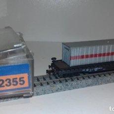 Trenes Escala: ROCO N PLATAFORMA 4 EJES CON CANTAINER 2355 (CON COMPRA DE 5 LOTES O MAS ENVÍO GRATIS). Lote 161264434