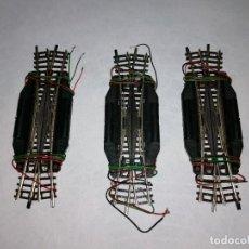 Treni in Scala: ROCO N 22246 LOTE DE 3 DESVÍOS ELÉCTRICOS EN CRUCE R4-15º PERFECTO ESTADO. Lote 287073238