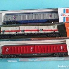 Trenes Escala: TRES VAGONES DE MERCANCIAS - ROCO 2363, 25261 Y 25277. Lote 287398653