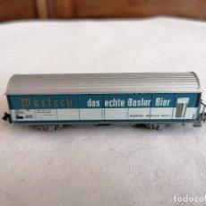 Trenes Escala: ROCO N VAGÓN CERRADO CERVECERO WARTECH DB ALEMÁN PERFECTO ESTADO. Lote 287607508