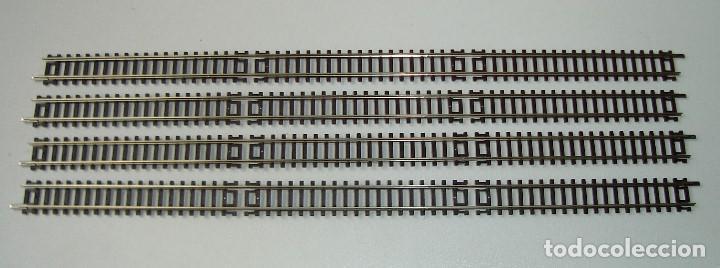 LOTE DE 4 VIAS RECTAS ROCO ESCALA N REF 22202 A ESTRENAR (Juguetes - Trenes a Escala N - Roco N)