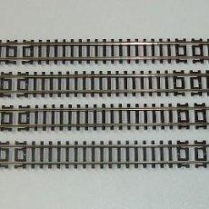 Trenes Escala: LOTE DE 4 VIAS RECTAS ROCO ESCALA N REF 22202 A ESTRENAR. Lote 289202813
