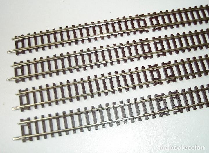 Trenes Escala: LOTE DE 4 VIAS RECTAS ROCO ESCALA N REF 22202 A ESTRENAR - Foto 2 - 289202813