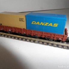 Trenes Escala: VAGON CON CONTENEDORES ROCO ESCALA N. Lote 289858523