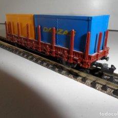 Trenes Escala: VAGON ROCO CON CONTENEDORES ESCALA N. Lote 289858833