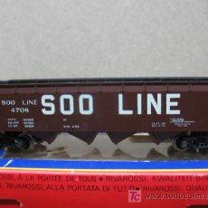 Trenes Escala: (RIVAROSSI) REF: 2306-H0- VAGON DE MERCANCIAS SOO LINE. Lote 20900560