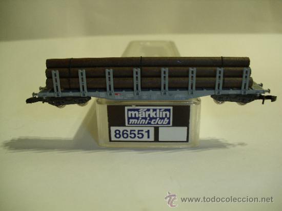 MARKLIN MINI CLUB Z - 86551 - VAGON CON TUBOS SPN - SBB (Juguetes - Trenes a Escala Z)