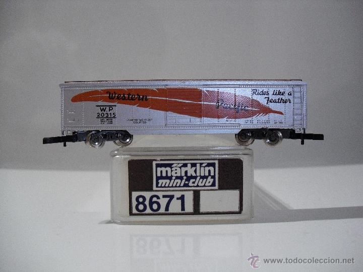 Trenes Escala: MARKLIN MINI-CLUB 8671 VAGON DE MERCANCIAS PACIFICO OCCIDENTAL (NUEVO) - Foto 1 - 39462978