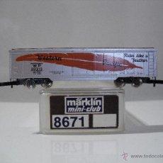 Trenes Escala: MARKLIN MINI-CLUB 8671 VAGON DE MERCANCIAS PACIFICO OCCIDENTAL (NUEVO). Lote 39462978