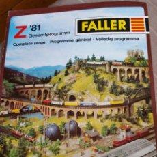 Trenes Escala: CATALOGO FALLER ESCALA Z 1981. Lote 95610339