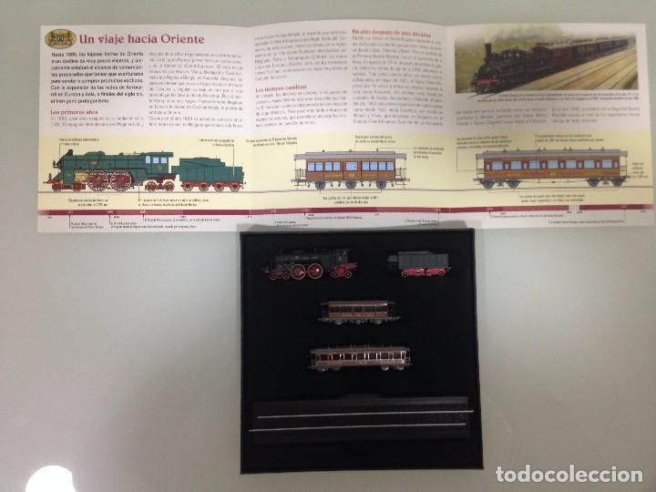 Trenes Escala: TREN,ORIENT ESPRESS,ESTUCHE COMPLETO Y NUEVO A ESTRENAR,COLECCION MINITRAINS, ALTAYA - Foto 3 - 95998987