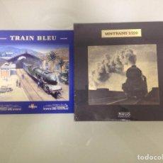 Trenes Escala: TREN,TRAIN BLEU, TREN AZUL,ESTUCHE COMPLETO Y NUEVO A ESTRENAR,COLECCION MINITRAINS, ALTAYA. Lote 95999147