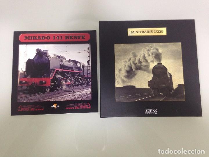 Trenes Escala: TREN,RENFE, MIKADO 141 ,ESTUCHE COMPLETO Y NUEVO A ESTRENAR,COLECCION MINITRAINS, ALTAYA - Foto 2 - 95999267