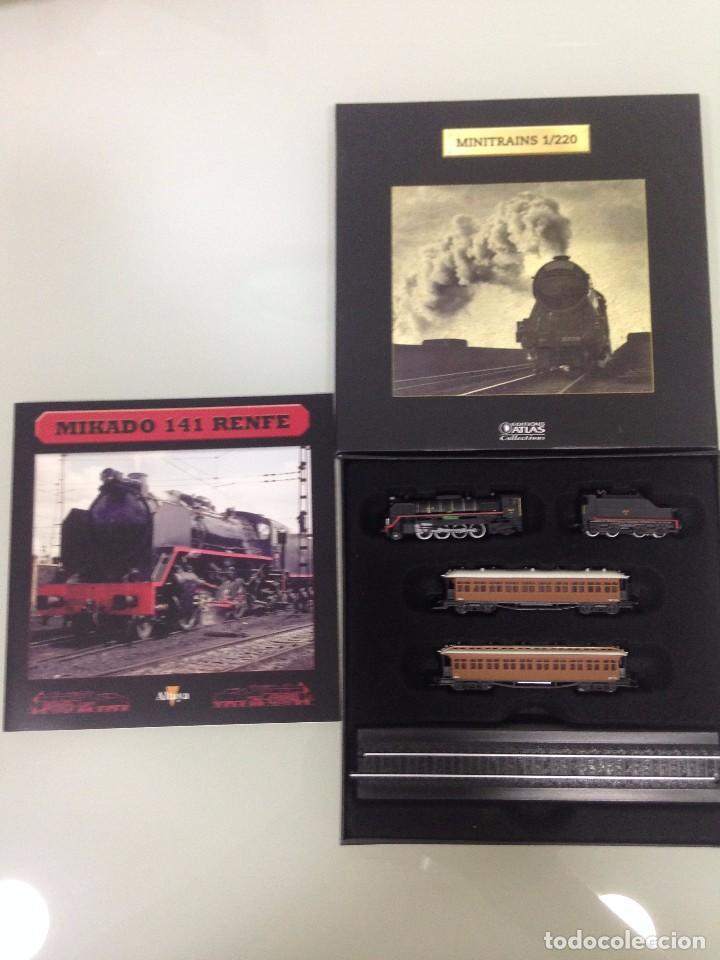 Trenes Escala: TREN,RENFE, MIKADO 141 ,ESTUCHE COMPLETO Y NUEVO A ESTRENAR,COLECCION MINITRAINS, ALTAYA - Foto 3 - 95999267