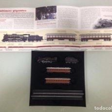 Trenes Escala: TREN,RENFE, MIKADO 141 ,ESTUCHE COMPLETO Y NUEVO A ESTRENAR,COLECCION MINITRAINS, ALTAYA. Lote 95999267