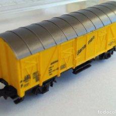 Trenes Escala: MARKLIN Z VAGÓN CERRADO BANANEN. EN CAJA ORIGINAL. Lote 102832623