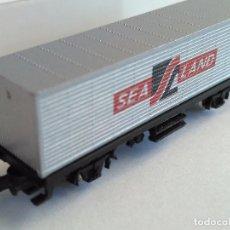 Trenes Escala: MARKLIN Z VAGÓN PORTA CONTENEDOR SEA LAND. EN CAJA ORIGINAL. Lote 102832903