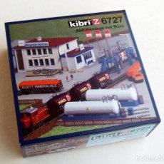 Trenes Escala: KIBRI Z6727 • PLANTA DE COMBUSTIBLE (+ OFICINA Y CAMIONES) • ESCALA Z (MODS. 10X6,5 CM Y 12X4 CM). Lote 103785003