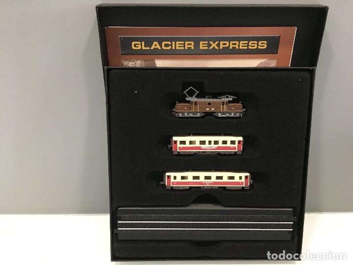 MINITRAINS ESCALA 1/220. GLACIER EXPRESS (Juguetes - Trenes a Escala Z)