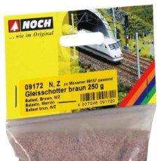 Trenes Escala: NOCH N + Z 1:220 BALASTO MARRÓN 250G DIORAMA MODELISMO MAQUETA TRENES ESCALA. Lote 118908471