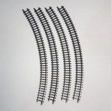Trenes Escala: MARKLIN MINI-CLUB 4 VÍAS CURVA 7-11/16 45° REFERENCIA 8520. Lote 127746647