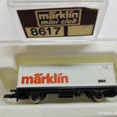 Trenes Escala: MÄRKLIN MINI-CLUB ESC. Z. VAGON PORTA CONTENEDORES . REF. 8617. EN SU CAJA . Lote 140858128